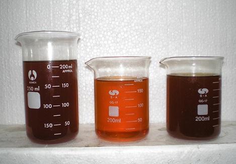 clarificación de aceites usados