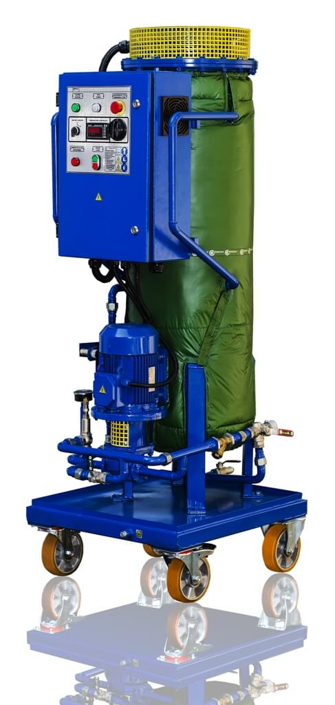 Inline Oil Heater PPM-18 for Dielectric Oil Heating at Electricity substation