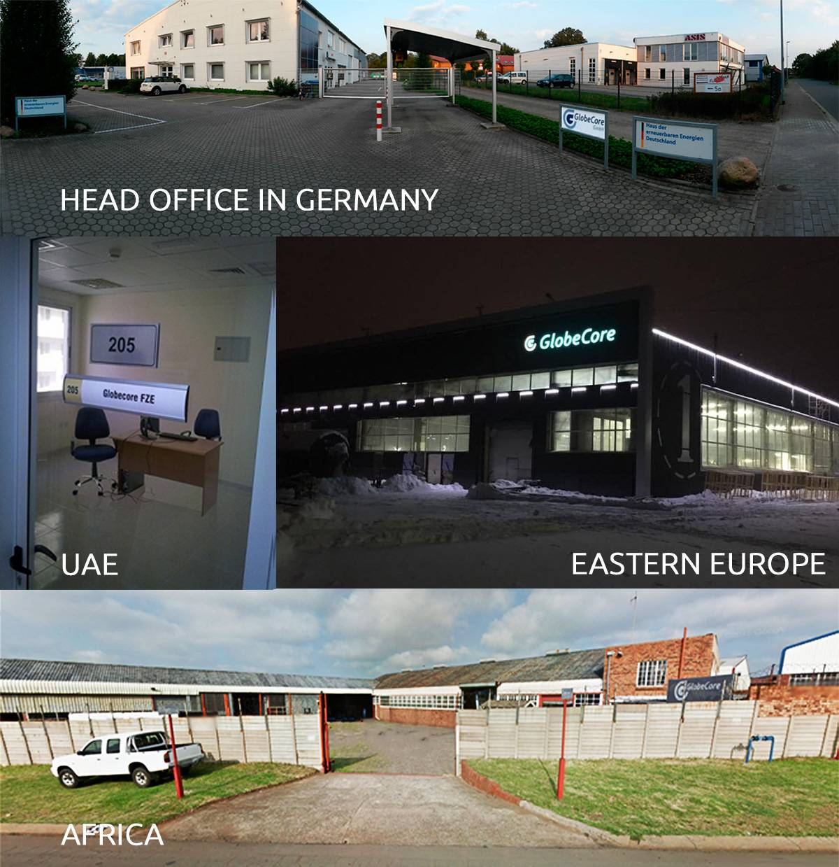 Globecore oil regeneration offices