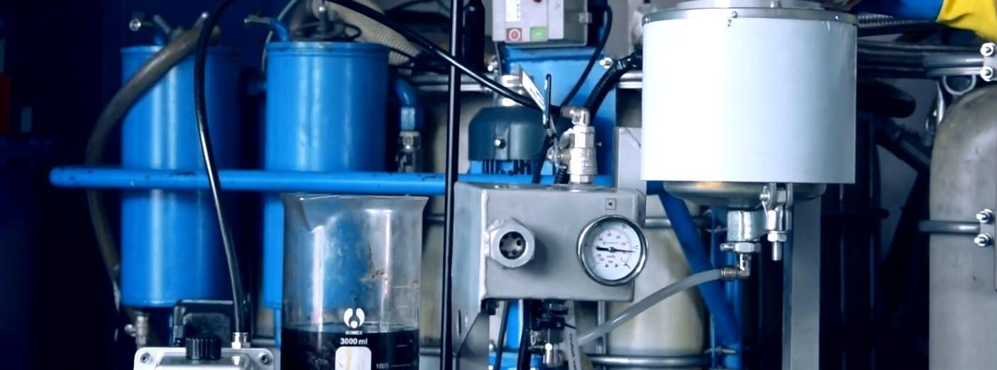 Regeneración de aceite. Tecnología GlobeCore.