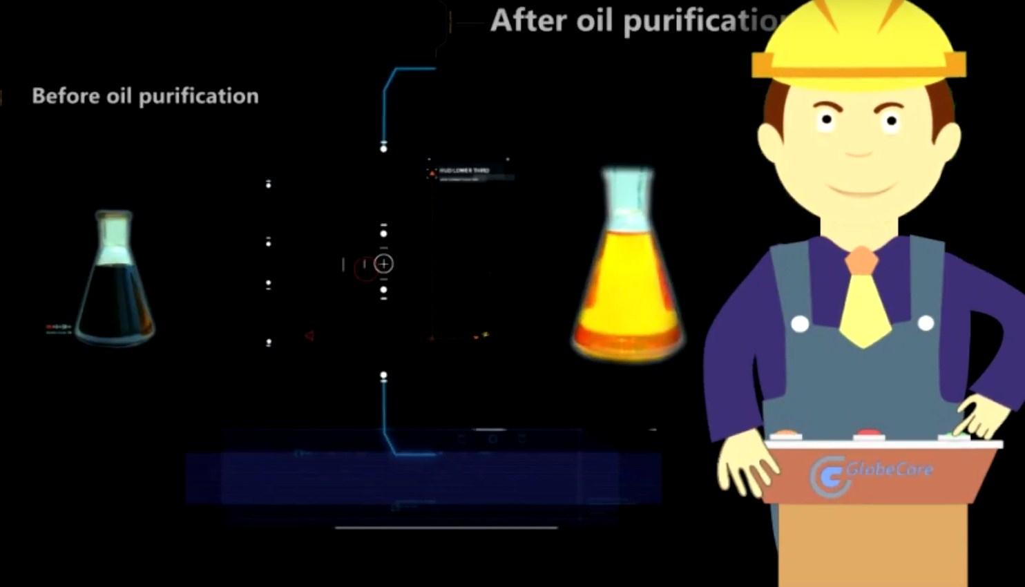 Clarificación de combustible y aceite en la instalación de UVR