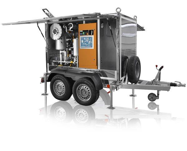 máquina de desgasificación de aceite de transformador